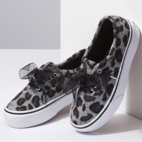 Vans Shoes | Fuzzy Snow Leopard